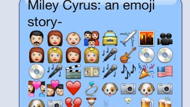 A Remarkably Accurate Emoji Biography of Miley Cyrus
