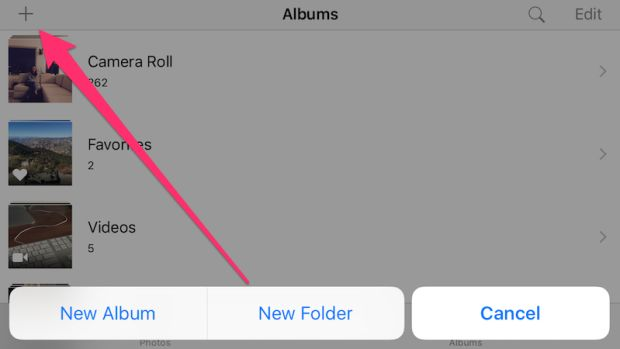 Long-Press the Plus Button in iOS Photos to Create a New Folder | Lifehacker UK