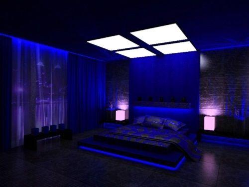 Картинки по запросу неоновая подсветка спальня
