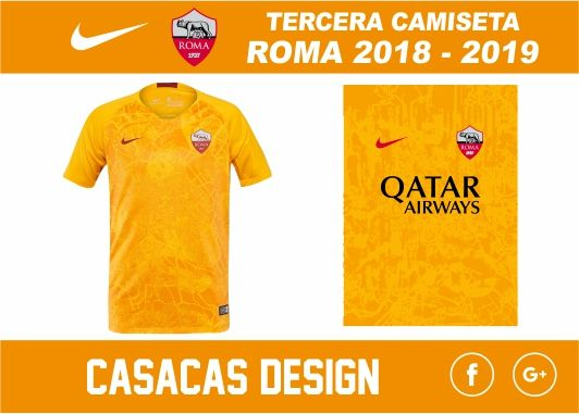 TERCERA CAMISETA ROMA 2018 - 2019 - VECTOR  4d7b0d8ec3a06