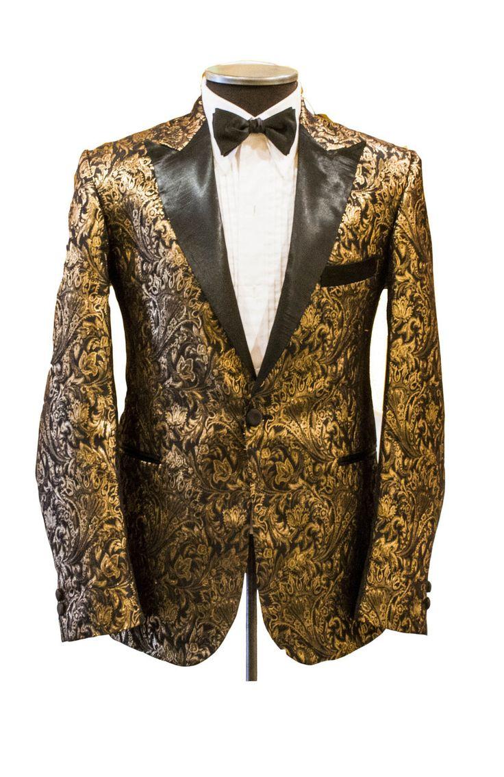 Cabaret Vintage - 1950s Inspired Black and Gold Brocade Jacket, $595.00 (www.cabaretvintag...)