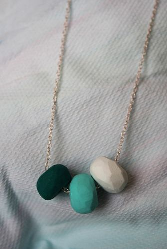 Creative: Eleven DIY Polymer Clay Projects  (Make this Polymer clay necklace via Little Love Boat & Friends)