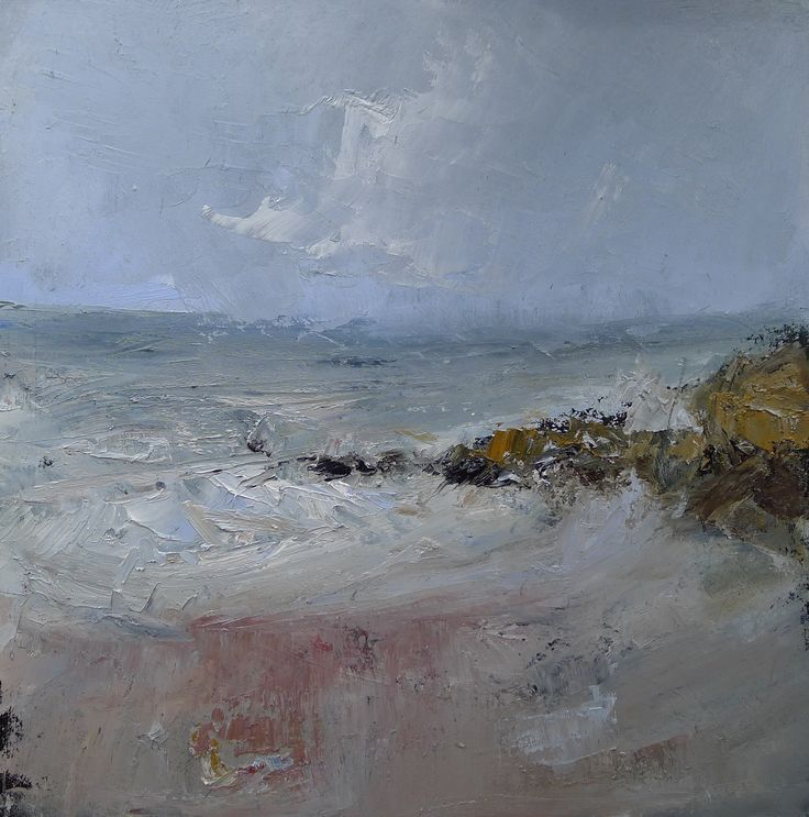 Machrihanish winter 9 x 9 inch oil on board