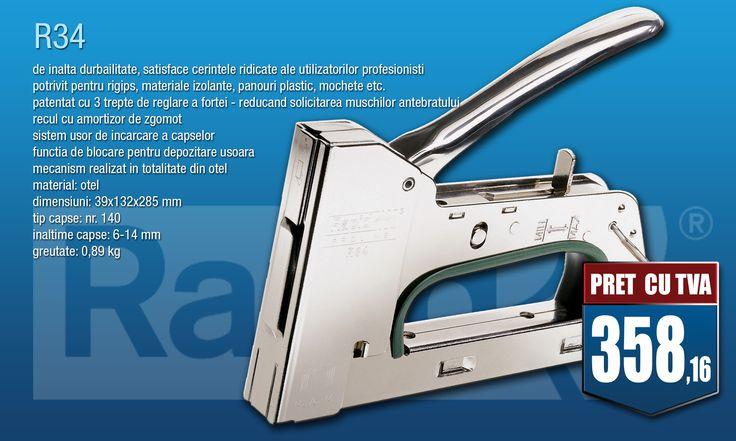 Capsator metalic manual cu capse nr. 140 de 6-14 mm R34 RAPID http://www.toolszone.ro/capsator-metalic-manual-cu-capse-nr-140-de-614-mm-r34-rapid-p-24326.html     material: otel     dimensiuni: 39x132x285 mm     tip capse: nr. 140     inaltime capse: 6-14 mm     greutate: 0,89 kg