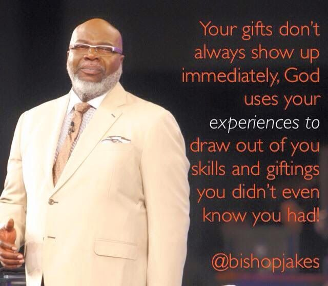 Read Bishop TD Jakes's latest inspirational quotes and daily devotional teachings.