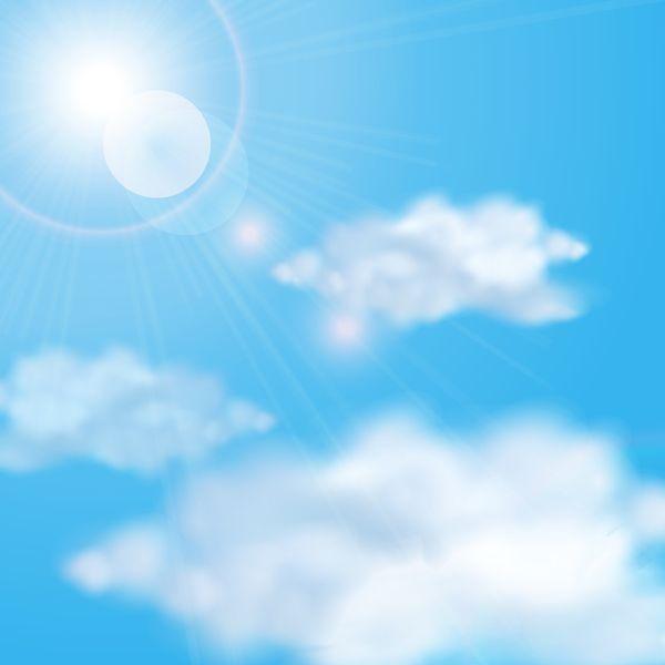 sonne und wolken mit himmelshintergrund vektor 03 eps datei sonnenlicht himmel hintergrund download vector background clouds vektoren illustrator vektorgrafik in word