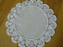 Úžitkový textil - Háčkováný obrus - 434715