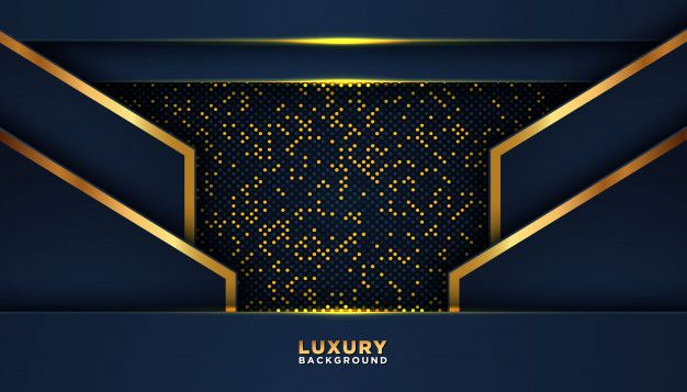Dark Abstract Background With Golden Glitters Dots Premium Vector Freepik Vector Ba Abstract Backgrounds Poster Background Design Instagram Frame Template