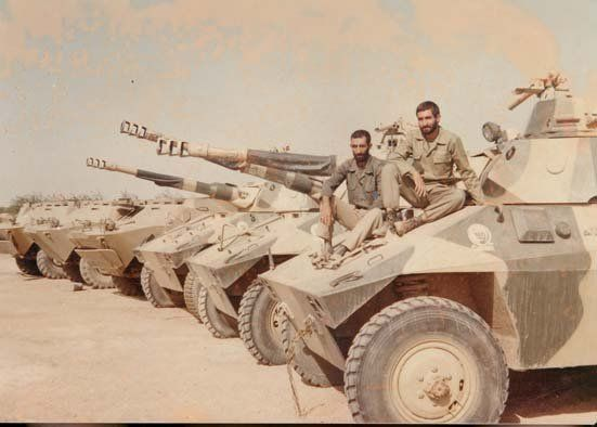 Iranian Forces arsenal of EE-9 Cascavel and a BRDM-2 during Iran-Iraq War.