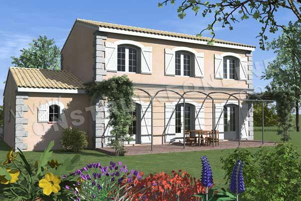 Plan-de-maison-etage-traditionnelle-BASTIDETTE-vue-terrasse