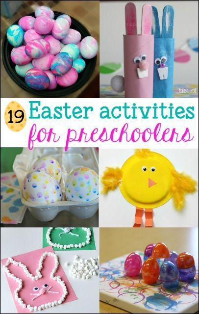 These fun Easter Activities for Preschoolers will be a hit with your child. Art, crafts, games and egg decorating ideas for preschool aged kids.