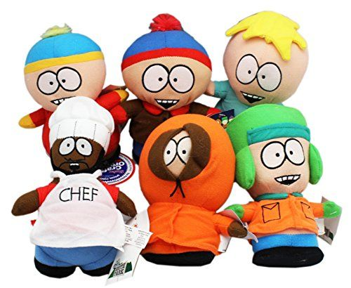 South Park Butters Stan Kyle Cartman Kenny and Chef Plush Toy Set (7in) @ niftywarehouse.com #NiftyWarehouse #SouthPark #ComedyCentral #TVShows #TV #Comedy