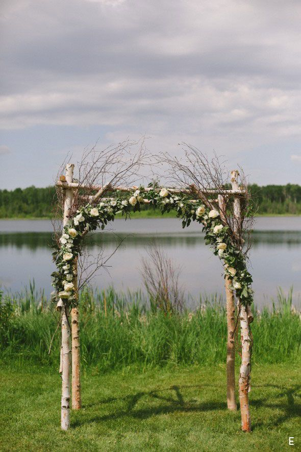 Lakeside Rustic Arch made of Birch