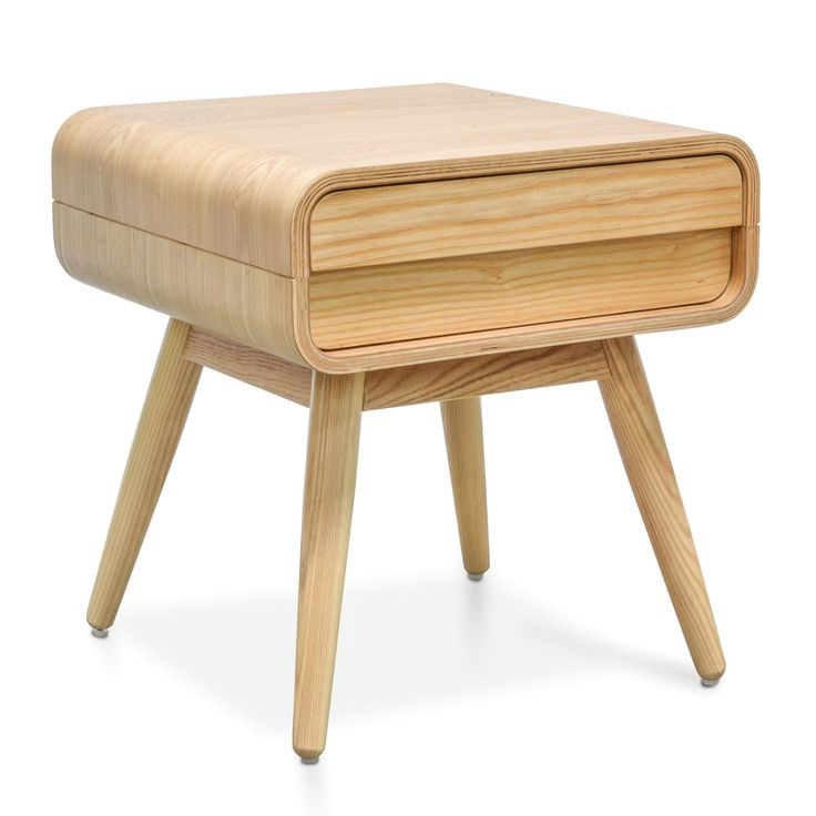 Joshua 1 Drawer Side Table - Natural