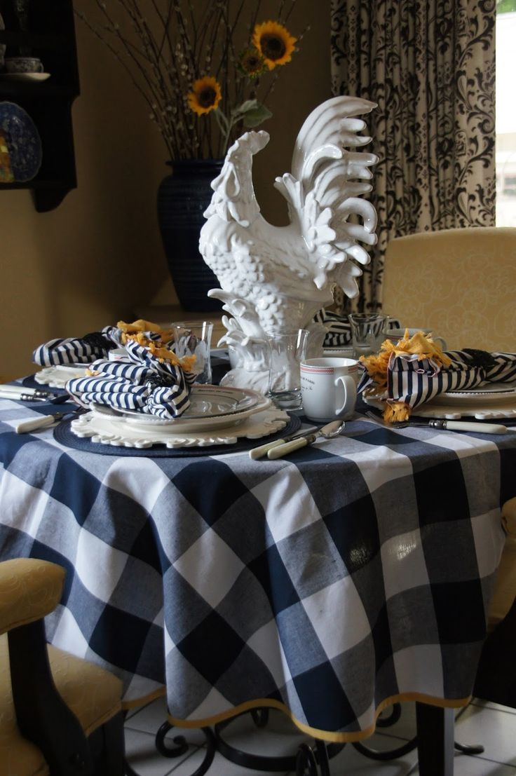 25 best ideas about gingham decor on pinterest outdoor baby showers baby q shower and - French country table centerpieces ...