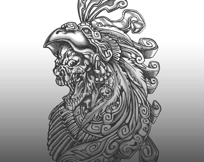 maya skull loca tattoo