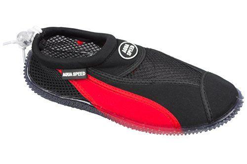 AQUA-SPEED Wasserschuhe / Surfschuhe / Badeschuhe Aquashoe 11-653 (schwarz/rot, 38) - http://on-line-kaufen.de/aqua-speed/38-eu-aqua-speed-wasserschuhe-surfschuhe