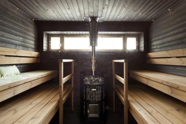 Mixed wood in Sauna - Kivitasku 150 - Pihasauna | Asuntomessut
