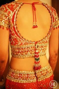 Ronicka Kandhari Photography Bridal Portrait Lehenga Red Gold Sequin Embroidery Zardozi