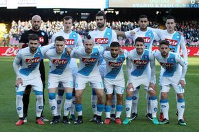 Team of SSC Napoli before the Serie A match between SSC Napoli and FC Torino at Stadio San Paolo on December 18, 2016 in Naples, Italy.
