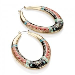 Cercei Statement Aurii - Safari - Jewelry-Box.ro