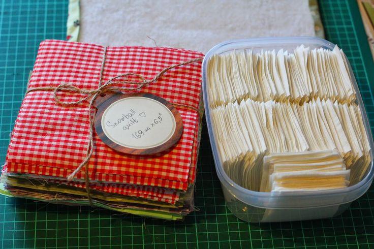 Нитки, ножницы, бумага: Snowball quilt. Первый этап