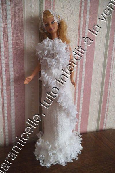tuto gratuit barbie: robe de mariée , fourreau et dentelle
