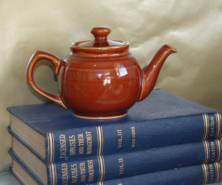 Brown Betty Teapot Small Size. Classic Brown Traditional Teapot , c1940s. by AtticBazaar on Etsy