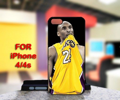 Kobe Bryant Lakers 24 For IPhone 4 or 4S Black Case Cover