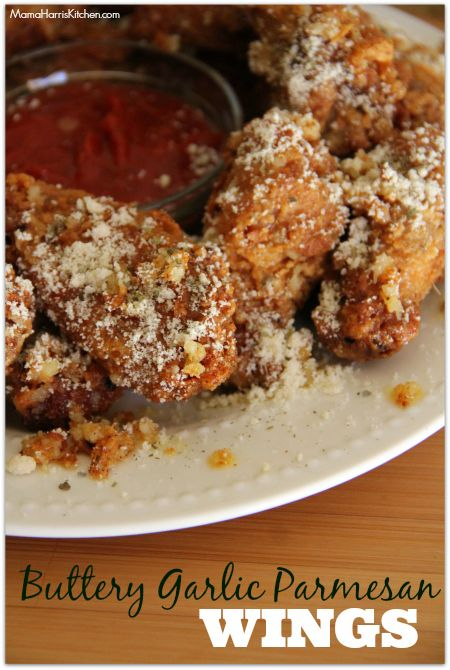 These Buttery Garlic Parmesan Wings are reminiscent of flavorful pizza crust. Dip them in marinara sauce and you have the ultimate combo for game day.