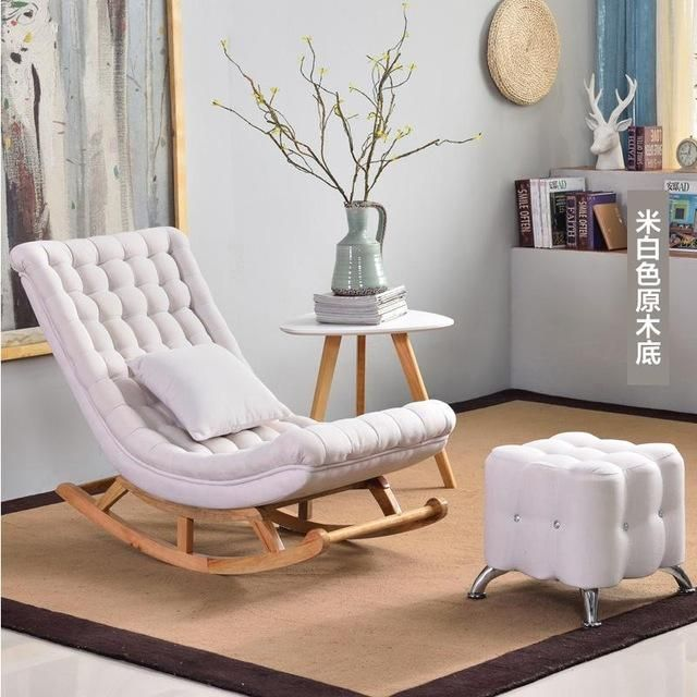 European High Endluxury Rocking Rocking Lounge Chair In 2021 Single Sofa Chair Upholstered Rocking Chairs Rocking Chair