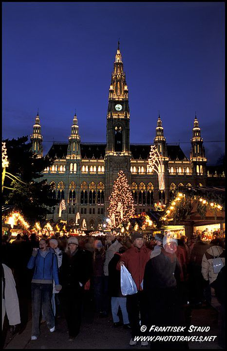 Christmas Market in front of Vienna Town Hall, Austria