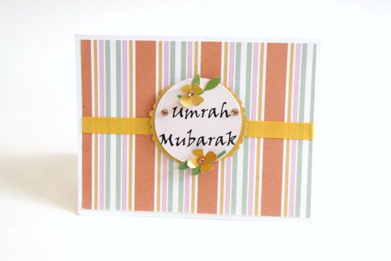 umrah card umrah mubarak mabroor Muslim Cards by HafsaCreates