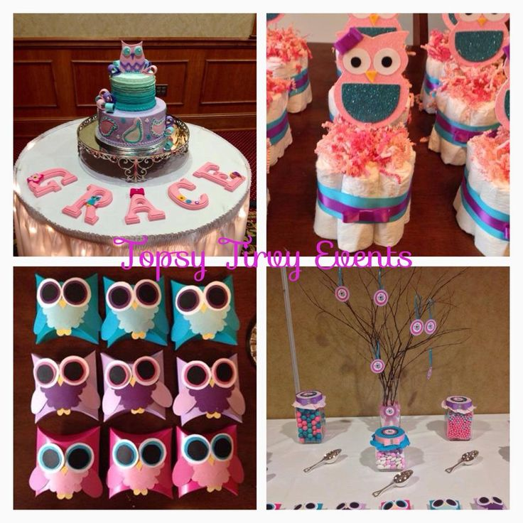 #Owl #Baby #Shower Theme Ideas By Topsy Turvy Events. Click To See