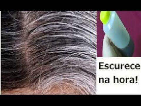 Shampoo que Escurece os Cabelos Brancos e PRETOS Naturalmente! Tinta Natural de Cabelos! Fácil - YouTube