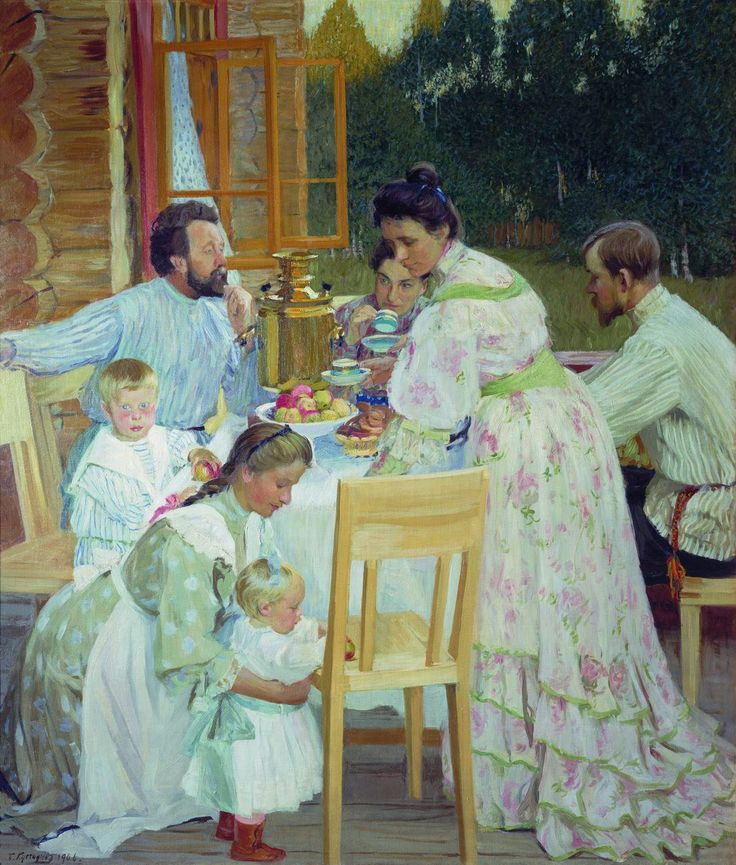On the Terrace, 1906  Boris Kustodiev