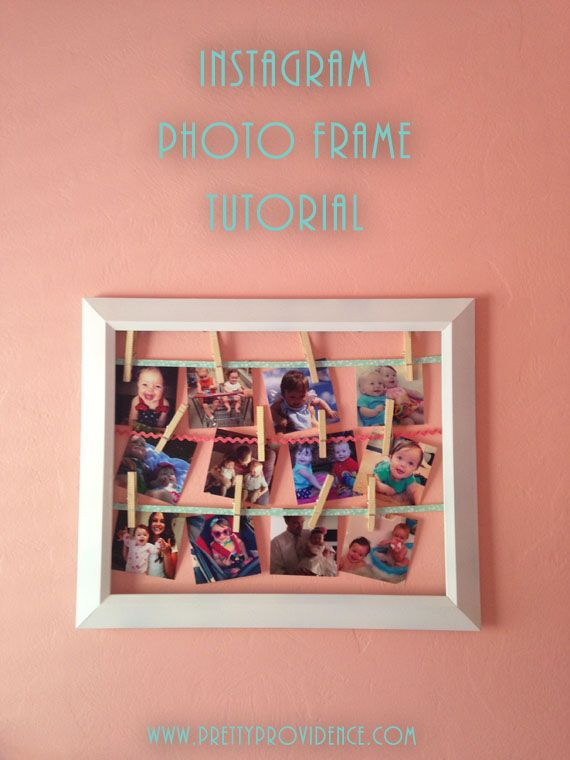 Adorable Instagram Frame Tutorial + The Easiest Way to Print Instagram Photos - Pretty Providence