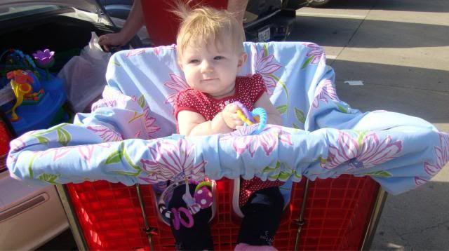 How to Make Your Own Shopping Cart / High Chair Cover | The TipToe Fairy