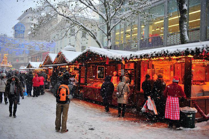 Christmas German market in Birmingham UK