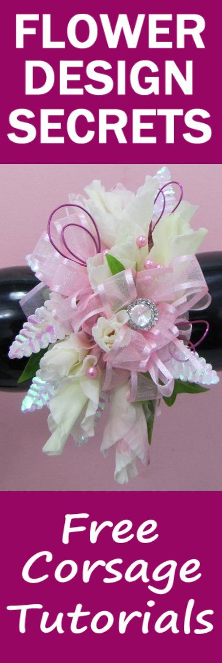 How to Make a Corsage - Easy Wedding Flower Tutorials   Learn how to make bridal bouquets, corsages, boutonnieres, table centerpieces and church decorations.  Buy fresh flowers and discount florist supplies.