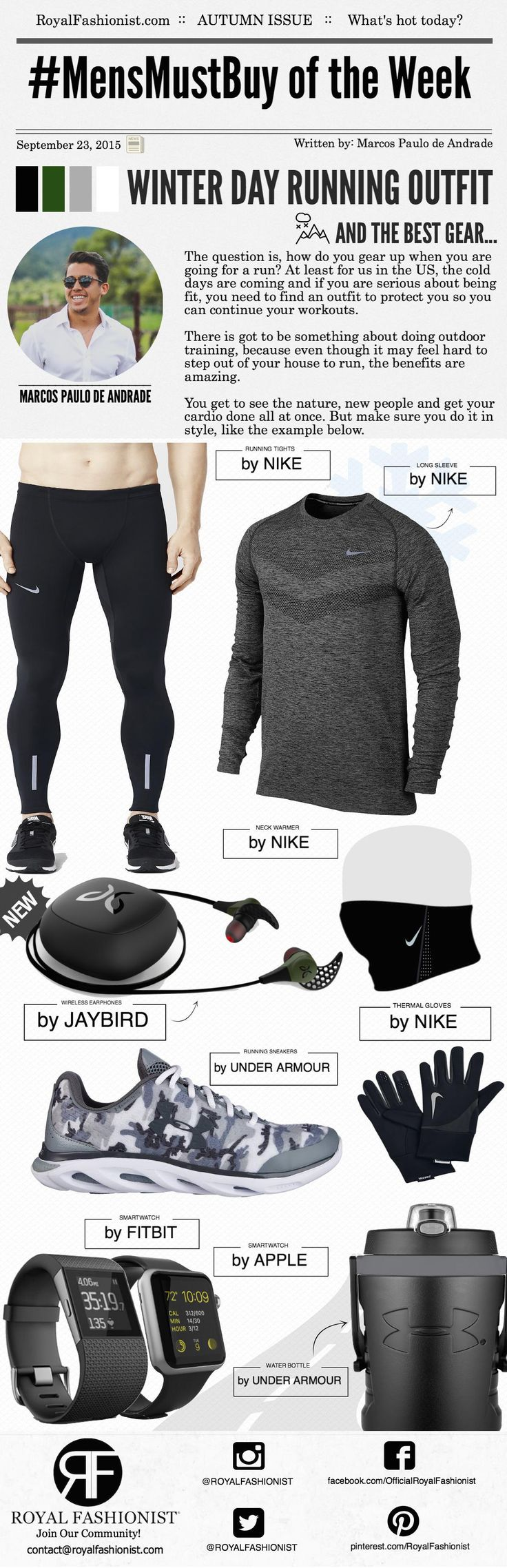 The question is, how do you gear up when you are going for a run? At least for us in the US, the cold days are coming and if you are serious about being fit, you need to find an outfit to protect you so you can continue your workouts. There is got to be