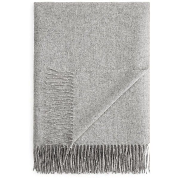 Fraas Solid Cashmere Throw - 100% Exclusive ($250) ❤ liked on Polyvore featuring home, bed & bath, bedding, blankets, filler, silver, cashmere throw blanket, cashmere blanket, pink bedding and pink blanket throw