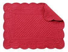 Set of 4 PCS,13X19 Inches SCALLOP Quilted Placemats, RUSSETT by C $21.55. Save 33%!