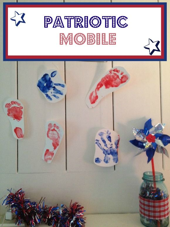 Easy 4th of July Craft for Kids: The Perfect Patriotic Hand Print Mobile: If you have just a few supplies and a couple of kids willing to lend a hand, you can whip up this Perfect Patriotic Hand Print Mobile in no time flat. Such a mobile will not only get them into the patriotic spirit, but it will get everyone who walks into your home into the spirit as well. Interested in making this fun 4th of July craft for kids yourself?