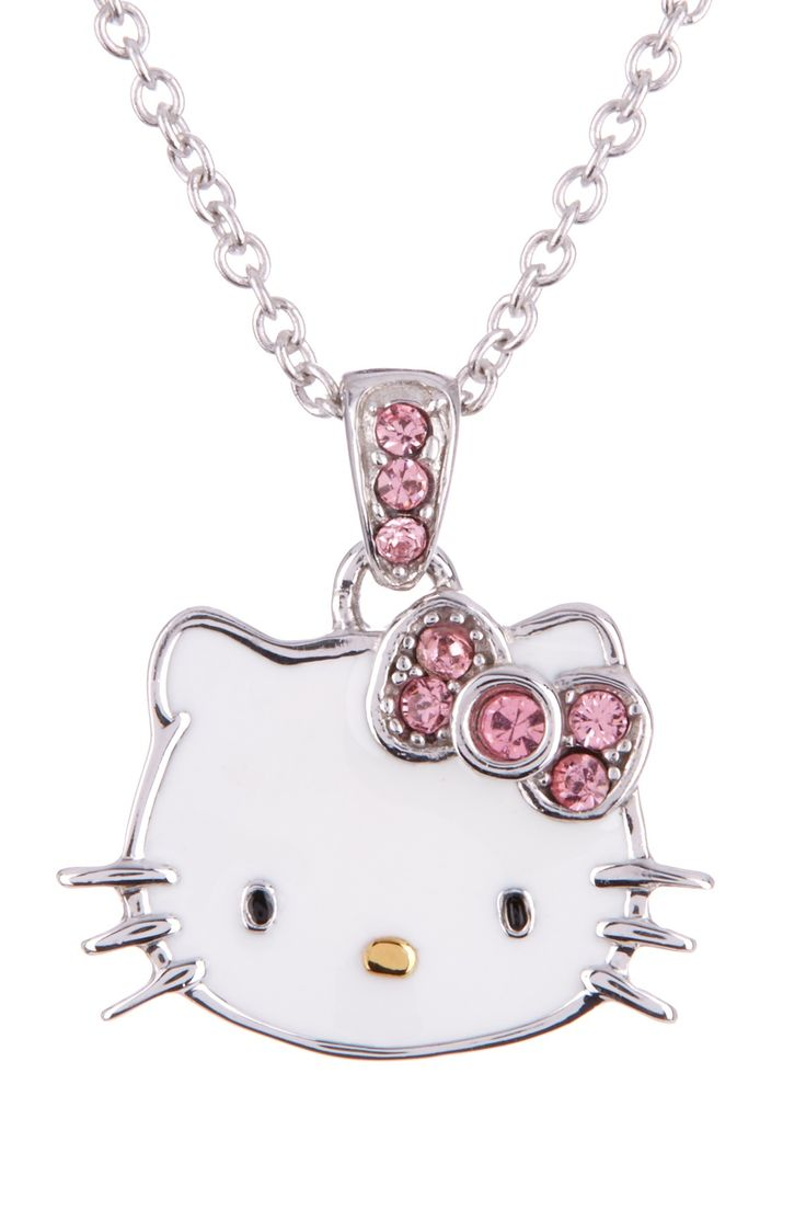 Hello Kitty Enamel Pendant Necklace