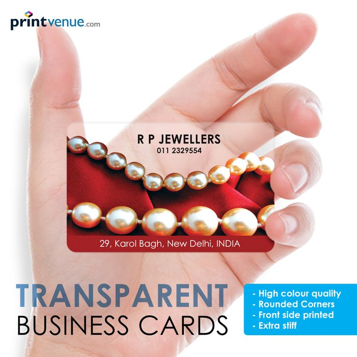 Transparent Business Cards Order Link:http://www.printvenue.sg/c/business-card?utm_source=Pinterest&utm_medium=Post&utm_campaign=BusinessCards_7Dec13 #businesscards #customize #india #marketplace #offer #deal