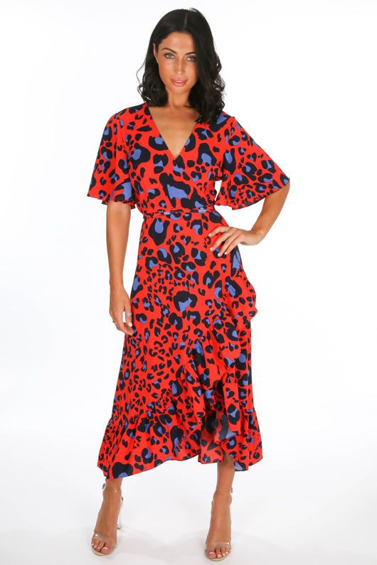 d83602877a Discover leopard print wrap dresses here at Dressed In Lucy. Find the  perfect animal print wrap midi dresses here and use code NEWBIE10 for 10%  off your ...