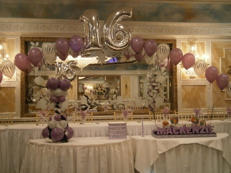 13 curated sweet 16s ideas by totalparty balloon arch for Balloon decoration ideas for sweet 16