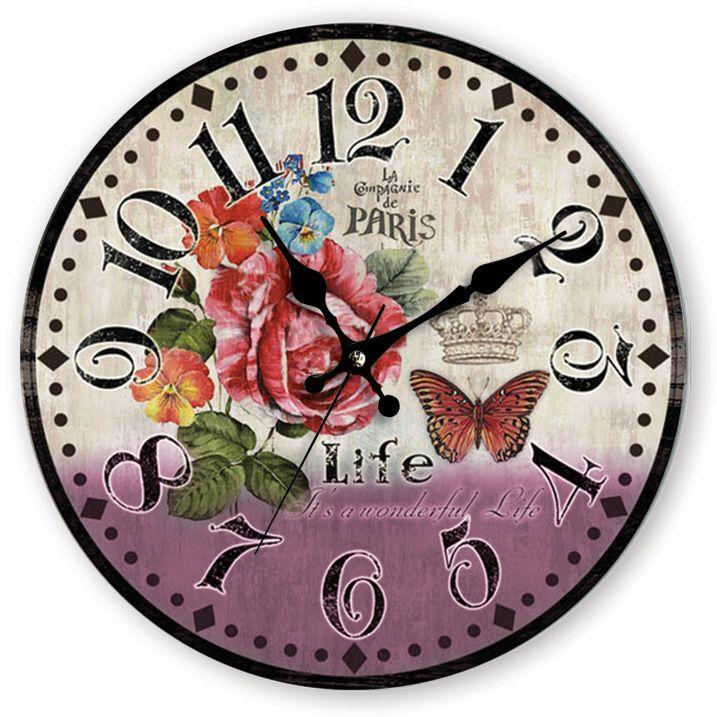 Paris Life Antik Ahşap Duvar Saati  Ürün Bilgisi;  MDF gövde Sessiz akar saniye Çap 35 cm. Çok şık ve dekoratif ahşap duvar saati Ürün resimde olduğu gibidir