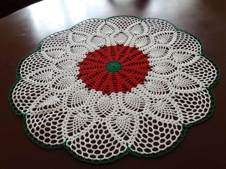 Manteles a crochet para mesa cuadrada buscar con google - Manteles para mesa ...